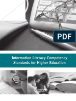 ALA - Information Literacy Competency Standards for Higher Education