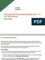 Earnings Call Transcripts Analysis Deck Q4 2017