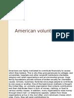American Volunteerism