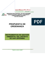 Propuesta de Ordenanza