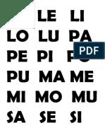 La Le Li Lo Lu Pa Pe Pi Po Pu Ma Me Mi Mo Mu Sa Se Si So Su Ta Te Ti Tu Na Ne Ni No Nu Al El Il Ol Ul as Es is Os Us