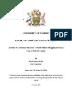 Kibet_A Study of Consumer Behavior Towards Online Shopping in Kenya Case of Nairobi County