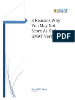 3 Reasons Why You May Not Score as High on GMAT Verbal