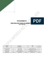 Procedimiento 001 Perforación Sondaje Diamentina - Superficie. Rev.1