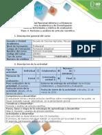Guía de Actividades y Rúbrica de Evaluación - Paso 4 -Revisión y Análisis de Artículos Científicos