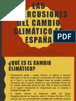 Las repercusiones del cambio climático en España