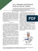 Modelado Físico y Matemático Del Sistema de Suspensión de Un Cuarto de Vehículo