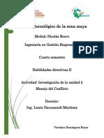 unidad 3 Manejo del Conflicto - Habilidades directivas