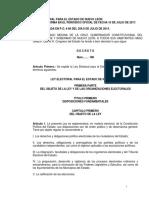 Ley Electoral Para El Estado de Nuevo Leon