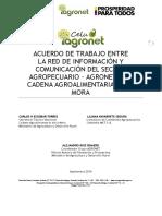 D.C. - Acuerdo Trabajo Agronet y Cadena Mora