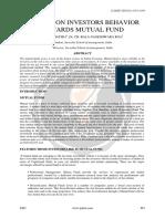 A Study on Investors Behavior Towards Mutual Funds Ijariie6493
