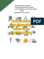 Maquinaria y Herramientas de la construcción