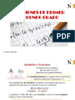 Ecuac. de 1 y 2 Grado-upn