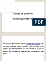 Classes de Palavras - Estudos Gramaticais