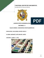 p Nº1 Celda Unidad. Constantes Cristalográficas