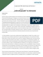 """La """"superación del pasado"""" en Alemania (Opinión - EL PAÍS) - Ignacio Sotelo"""