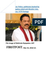 Sri Lanka unrest  Police, politicians backed by Mahinda Rajapaksa aided anti-Muslim riots, reveal witnesses, CCTV footag.docx