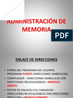 Administracion de Memoria Para Clase
