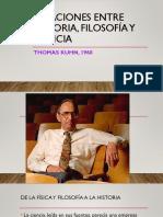 Relaciones Entre Historia, Filosofía y Ciencia