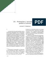 Rosenau, J. (1994). Pre-teorías y Teorías Sobre Política Exterior.