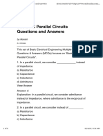 11. Questions & Answers on Single-Phase Parallel Networks