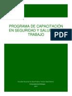 Programa de capacitación  en Seguridad y Salud en el Trabajo