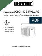 Innovair PIN EER Nature Inverter Mini Split Troubleshooting Guide Spanish