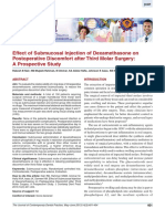 Effect of Submucosal Injection of Dexamethasone on Postoperative Discomfort After Third Molar Surgery a Prospective Study