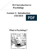 SSYA1013 Chapter 1 - Intro. to Psychology