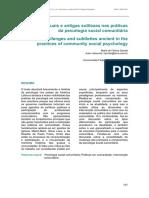 Desafios Atuais e Antigas Sutilezas Nas Práticas Da Psicologia Social