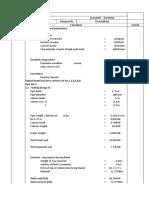 bridge croosings Calculation Sheet