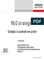Hitachi R&D Strategy