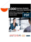 1000 BA Interview Questions - Free Edition