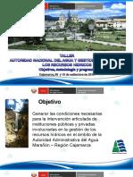 [1]Presentación de objetivos Taller GIRH Cajamarca - A. Tamariz