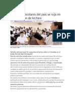 Comprensión Lectora en Colombia