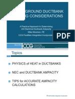 Mosman IEEE Presentation - Underground Ductbank Heating Considerations