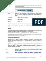 ESPECIFICACIONE TECNICAS - VIVERO