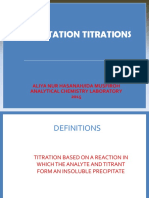 Precipitation Titration 2015