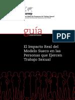 El impacto real del modelo Sueco en las personas que ejercen trabajo sexual