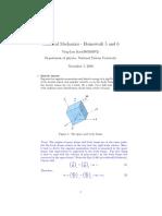 Classical Mechanics Homework by Goldstein
