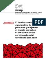 El involucramiento significativo de las personas que ejercen el trabajo sexual en el desarrollo de los servicios de salud diseñados para ellas