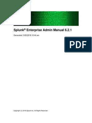 Splunk-6 2 1-Admin | Command Line Interface | Backup