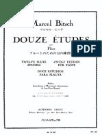 Marcel Bitsch - 12 Etudes Pour Flute