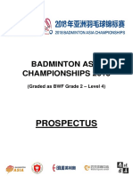 Badminton Asia Championships 2018 Tournament Prospectus 1st March 2018