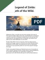 The Legend of Zelda - Breath of the Wild. Articulo de José D. Villalobos
