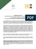Déclaration commune d'Yves Krattinger et François Sauvadet