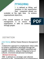 Essentials of Management-Staffing HRM basics