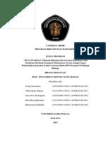 Contoh Laporan Akhir PKM M Tim Verdy Firmantoro