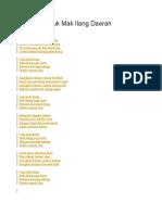 Lirik Lagu Cuk Mak Ilang Daerah Palembang