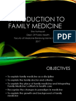 Introduction of Family Medicine